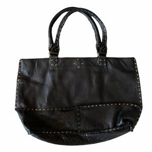 Linea Pelle  Leather Studded Tote Bag